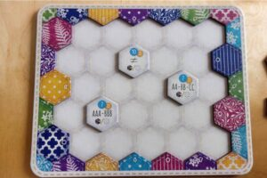 Calico: quilt board at the beginning of the game