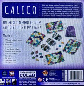 Calico : box back