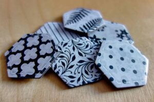 Black and white Patch tiles