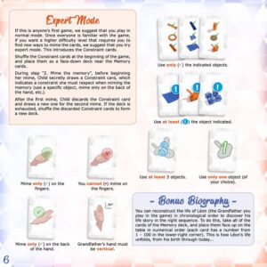 In the palm of your hand: A page of rules explaining the expert mode