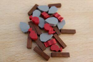 Paleo : Les ressources du jeu (bois, pierre, et nourriture)