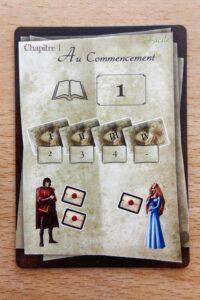 Roméo & Juliette : Chaque carte chapitre vous indique la mise en place à suivre