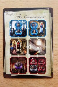 Roméo & Juliette : Les cartes chapitre montrent également où placer les personnages