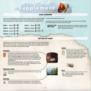 Paleo : The rulebook is accompanied by a supplement to the basic rules that will explain the different modules of the game