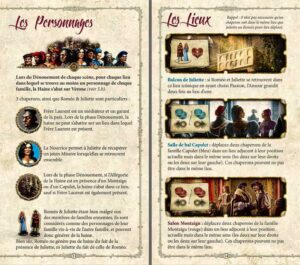 Roméo & Juliette : Les lieux du jeu expliqués en détail
