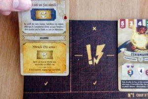 Reflets d'Acide ! : Les cartes imprévus dilemme peuvent être posées sur leurs emplacements respectifs afin d'être utilisées plus tard.