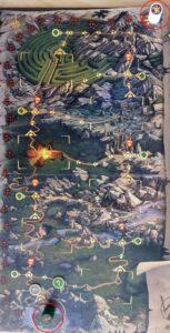 Reflets d'Acide ! : Placez l'Avatar du Néant ainsi que le pion vert symbolisant votre équipe de héros sur leurs cases respectives