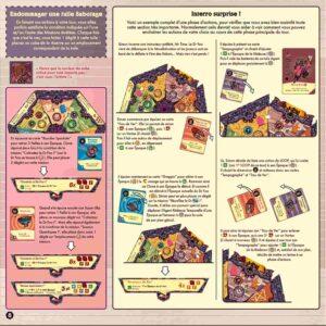 The Loop : Durant votre lecture, vous tomberez sur moultes exemples illustrés Le jeu s'assurera que vous avez bien compris avec un exemple d'un tour complet.